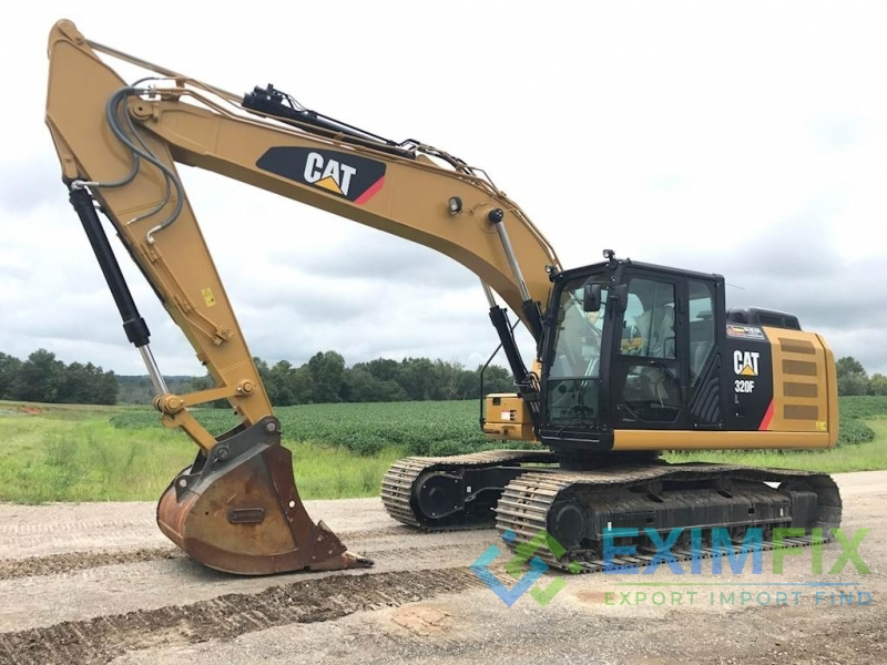 Cat and Komatsu Excavator