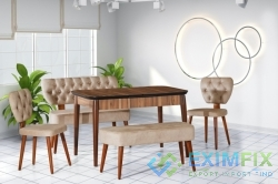 Wooden Pop-up Table Chair Set
